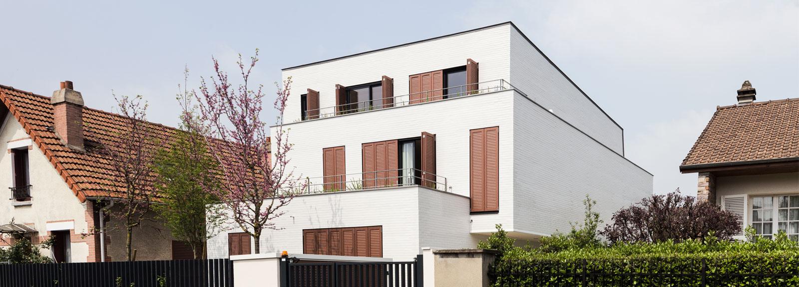 5 logements PLS : Intégration en zone pavillonnaire